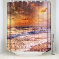 Shower Curtain Bathroom Decoration Decor Water Repellent & S