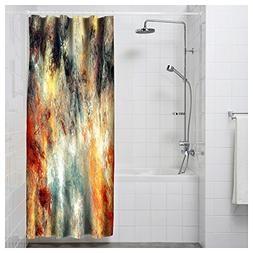 Shower Curtain Bright Artistic Splashes