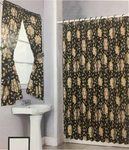 New Shower Curtain Butterfly design with window curtain Set