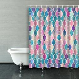 Emvency Shower Curtain Colorful Beautiful Mermaid Scales Mod