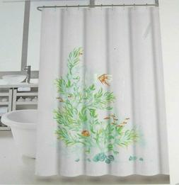 shower curtain coral panel multi color 72