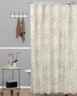 Shower Curtain Crochet Trendy Large Scale Lace Doily Designs