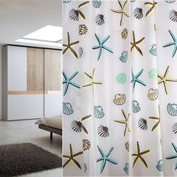 Shower Curtain Decor Ocean Beach Themed 70 Inches Long  Bart