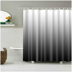 Shower Curtain Decor Ombre Colorful Design Black Gray Bath C