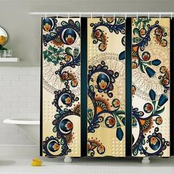 Shower Curtain Ethnic Floral Paisley Pattern Print 28189