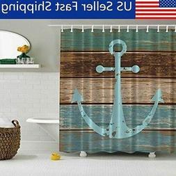 Shower Curtain Fabric Waterproof Bathroom Boat Anchor Design
