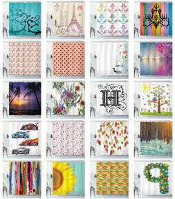 Shower Curtain for Bathroom Decor with 12 Hooks in Set by Am