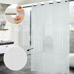 Shower Curtain Hookless, Broken Glass Pattern Waterproof Cle