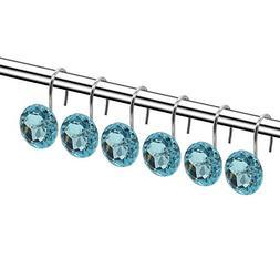 Shower Curtain Hooks Diamond Shape Shower Rings/Round Acryli