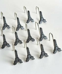 Shower Curtain Hooks Paris Bath Eiffel Tower French Bathroom