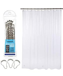 AMAZER Mildew Resistant PEVA 8G Shower Curtain Liner with Sh