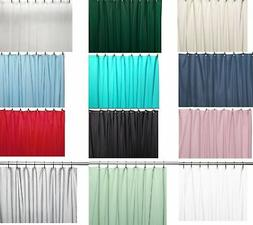 Shower Curtain Liner: Metal Grommets, Magnets, Standard Size