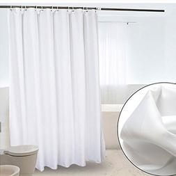 CRW White Fabric Shower Curtain Liner Mildew Resistant for B