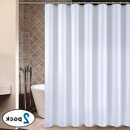CRW Shower Curtain Liner Mildew Resistant White for Bathroom