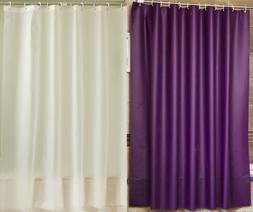 Shower Curtain Liner Peva Frosted Thicken, White / Purple, 7