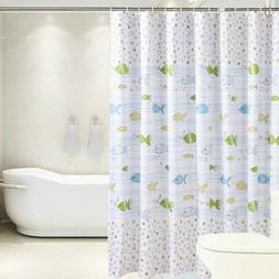 Shower Curtain Liner Set Waterproof w/12 Curtain Hooks-PEVA