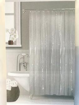SHOWER CURTAIN LINER SOLID VINYL CLEAR/OPAQUE BATHROOM New H
