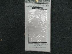 Shower Curtain Liner White Mildew Resistant Vinyl BRAND NEW