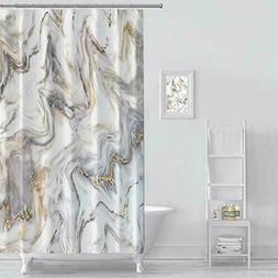 MuaToo Shower Curtain Marble Ink Texture Background Pattern