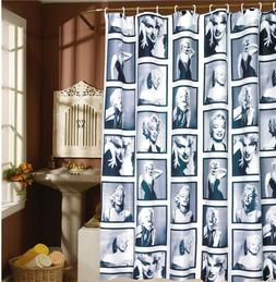 Shower Curtain Marilyn Monroe Pattern Bathroom Waterproof Fa