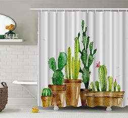 Chengsan Shower Curtain Mildew Resistant Waterproof with Hoo
