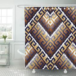 VaryHome Shower Curtain Modern Greek Key Meanders Geometric