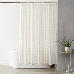 AmazonBasics Shower Curtain with Hooks  - 72 x 72 inches, Na