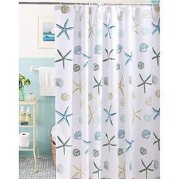 Meiosuns Shower Curtain Ocean Theme Peva Waterproof and Mild