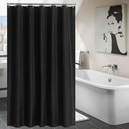YUUNITY Shower Curtain Polyester Fabric Bath Curtain with Ho