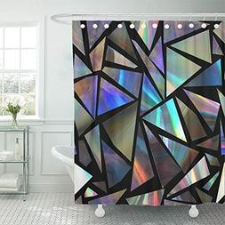 shower curtain polyester fabric green