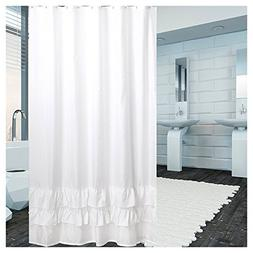 Shower Curtain Polyester Fabric Mildew Resistant Anti-Bacter