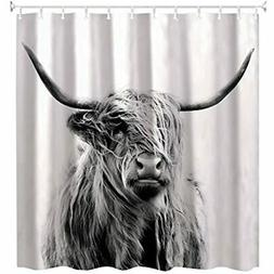 Shower Curtain,Portrait Of Highland Cow 60 X 72inch Home &am