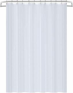 Water Repellent Bathroom Shower Curtain Liner White 72 x 72