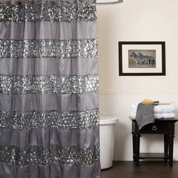 "Popular Bath ""Sinatra Silver"" Shower Curtain"