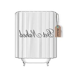 66x72 Shower Curtain - Get Naked Black Script Shower Curtain