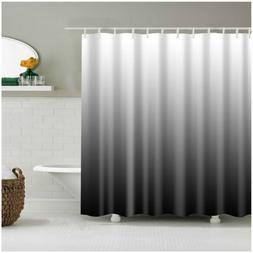 Shower Curtain Set Home Decor Ombre Colorful Design Black Gr
