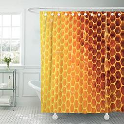 TOMPOP Shower Curtain the Shows Beehive Honey Nectar Hive Sw