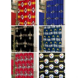 NFL Shower Curtain - Sports Footbal Team Logo Bathroom Acces