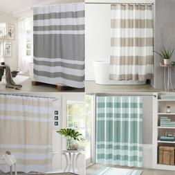 Shower Curtain Striped Bathroom Waterproof Bath Curtain with