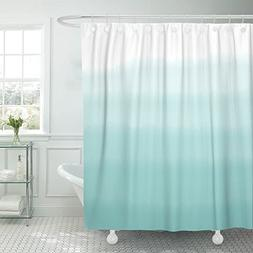 VaryHome Shower Curtain Teal Dip Turquoise Green Ombre Water
