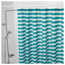 "IKEA Shower Curtain Turquoise Bath Bathroom 71x71"" NEW  VADS"