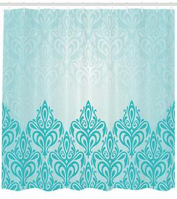 Shower Curtain Turquoise Medieval Victorian Royal Patterns 8