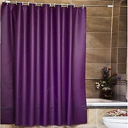 Shower Curtain, Wekity PEVA Pure Color Treated to Resist Det