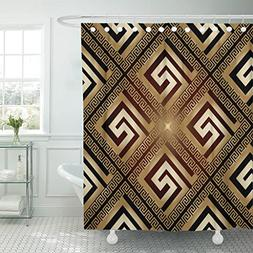 VaryHome Shower Curtain Versace Luxury Modern Shiny with Vin