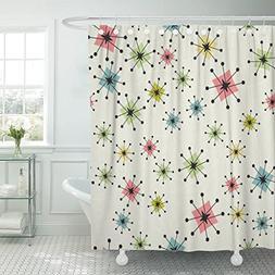 shower curtain vintage atomic stars