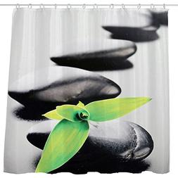 DJSBZ Shower Curtain Waterproof Non-Toxic Polyester Decorati