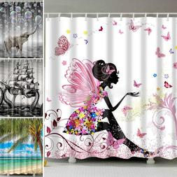 Shower Curtain Waterproof Polyester 3D Printed Pattern Fabri