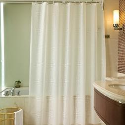 PEVA Stall Extra Long Shower Curtain Liner with Hooks/Rings-