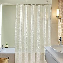 UFRIDAY 36 x 72 Shower Curtains Liner Semi-transparent, Wate