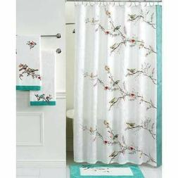 Lenox Simply Fine Bath Accessories, Chirp Shower Curtain Bed